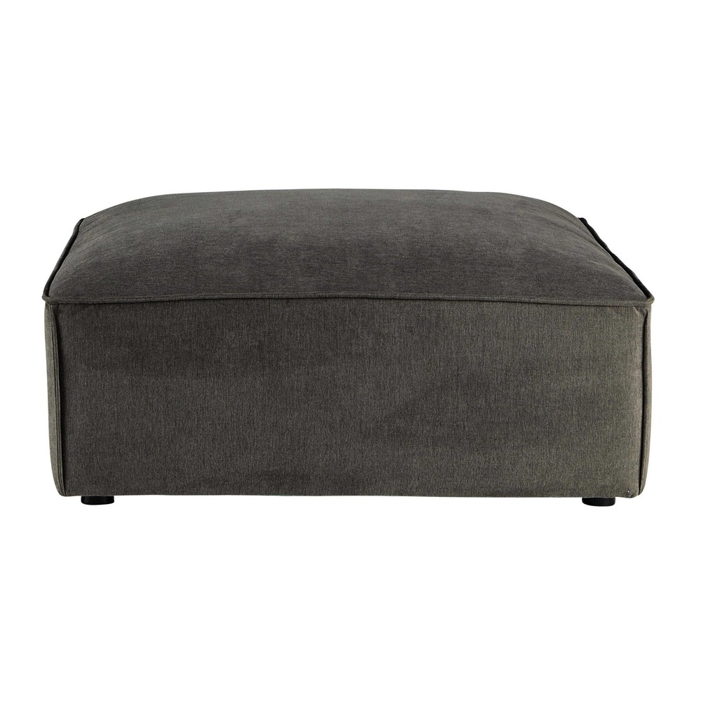 pouf de canap modulable en tissu taupe gris malo maisons du monde. Black Bedroom Furniture Sets. Home Design Ideas