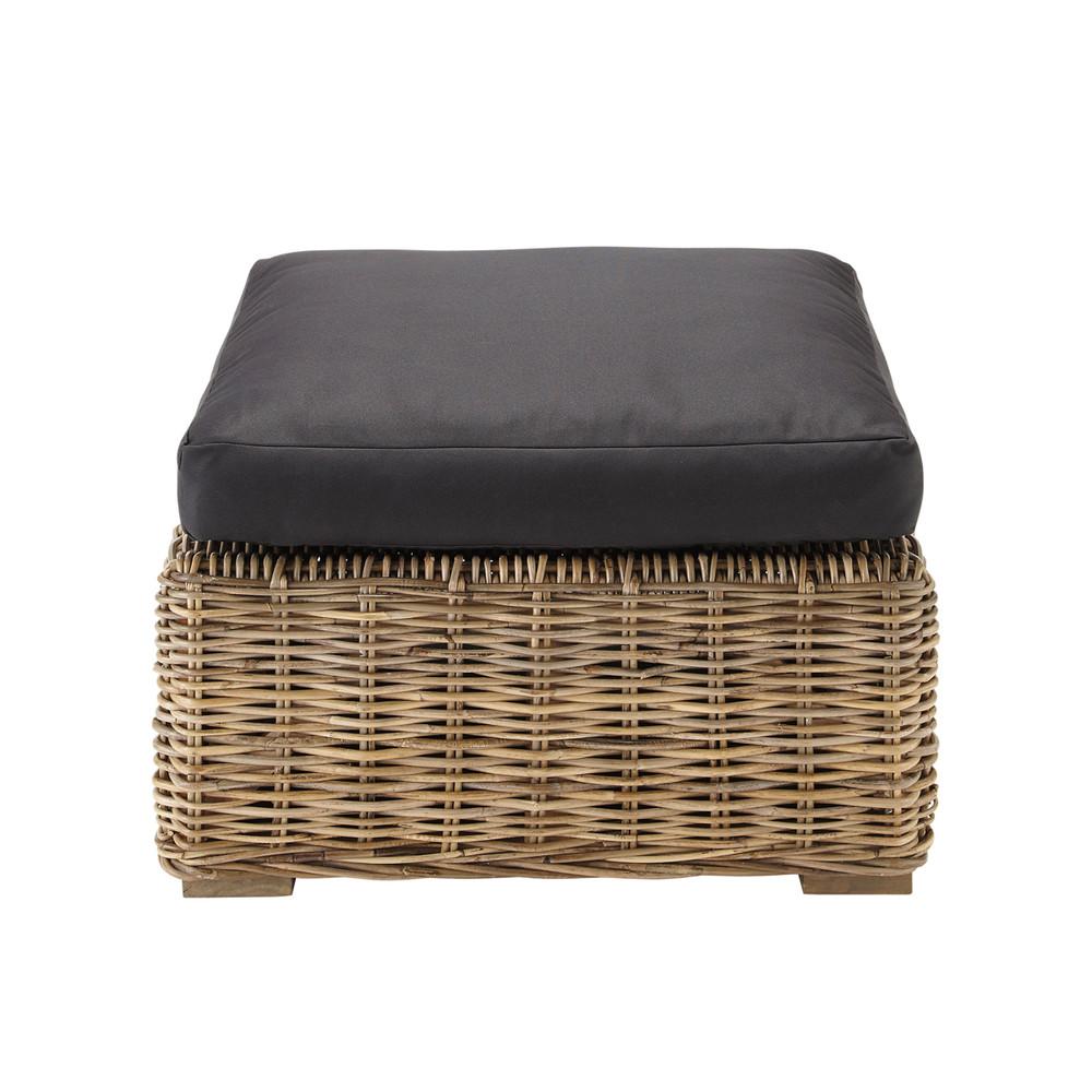 pouf de canap noir born o maisons du monde. Black Bedroom Furniture Sets. Home Design Ideas