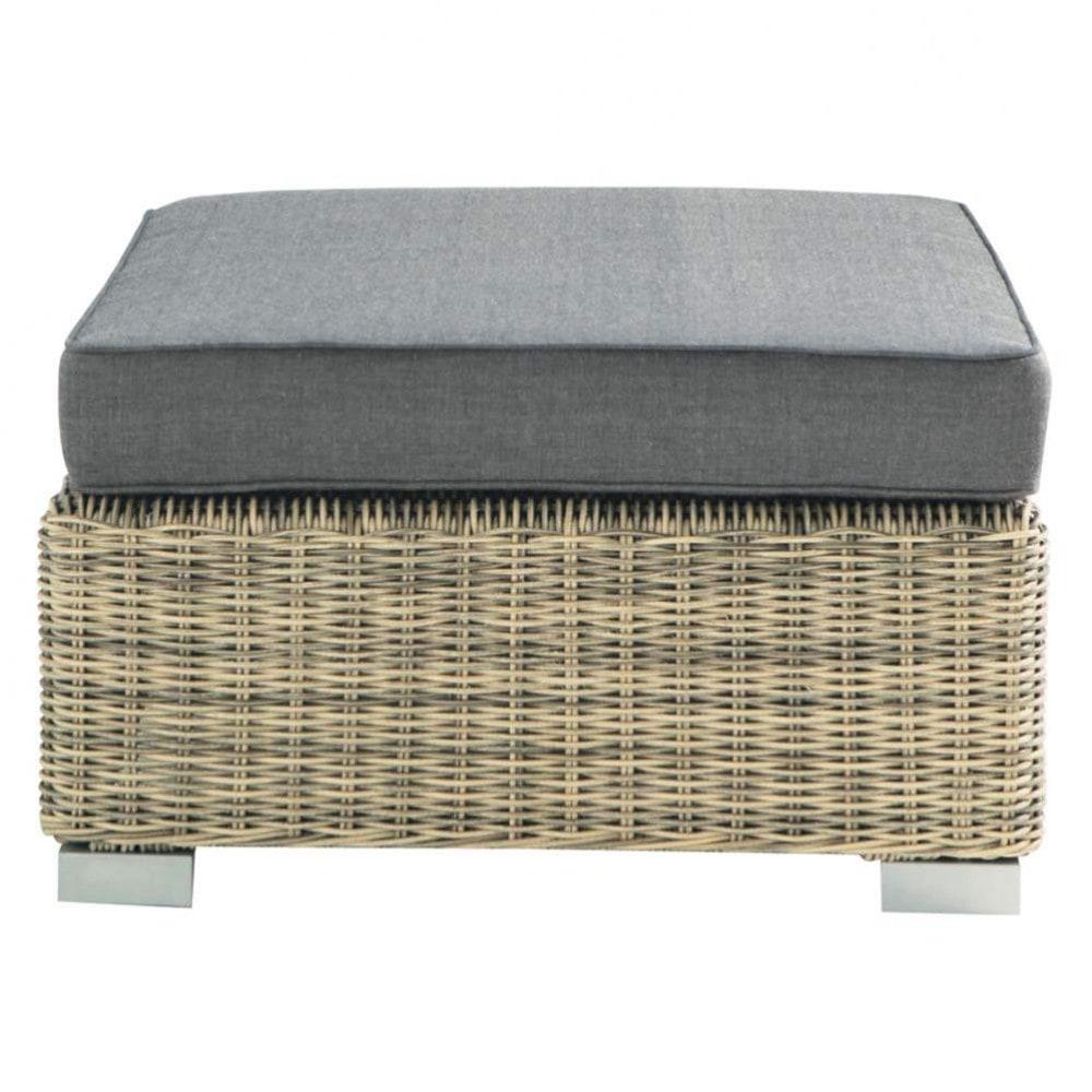 pouf de jardin en rsine tresse with maison du monde mobilier de jardin. Black Bedroom Furniture Sets. Home Design Ideas