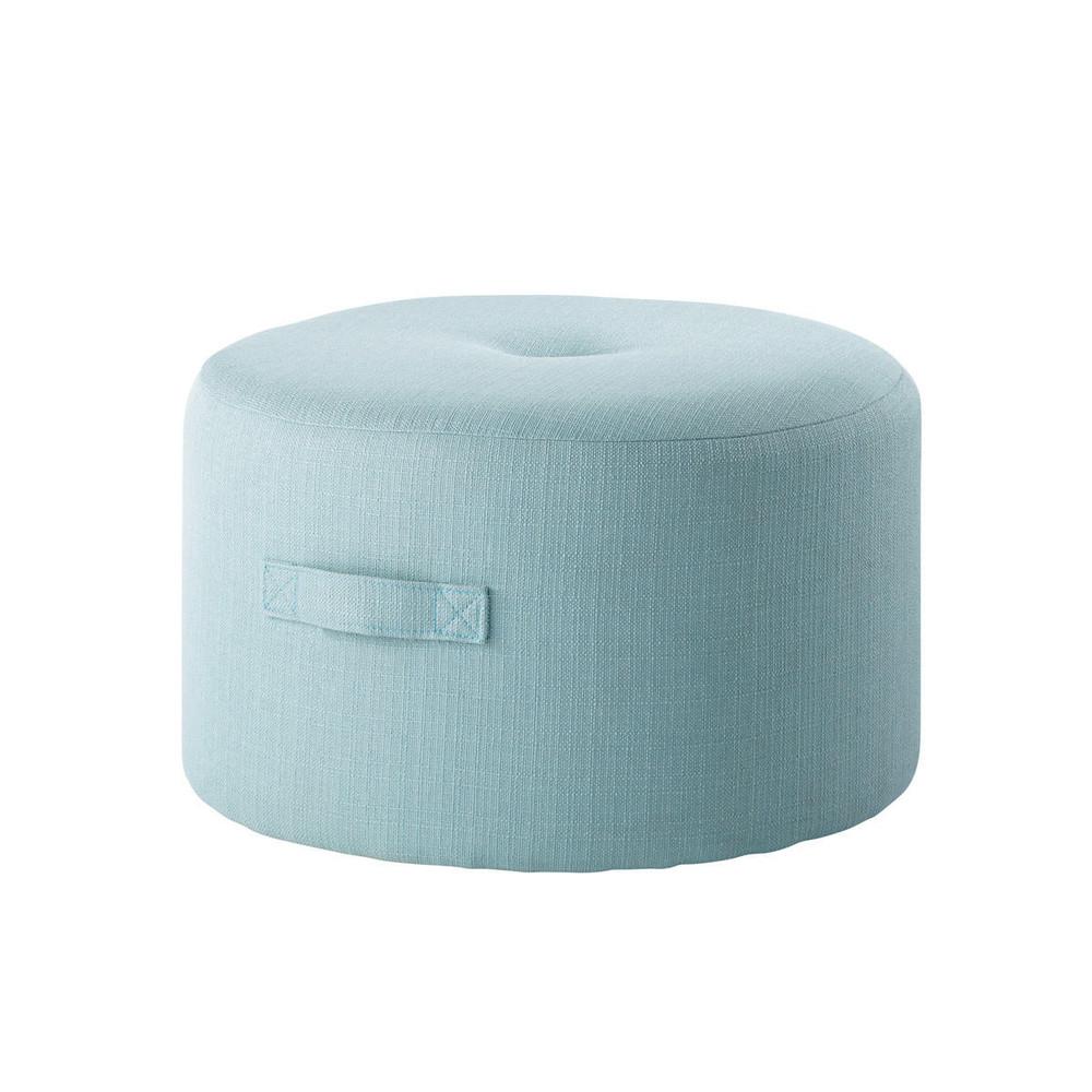 Pouf en tissu bleu bor al maisons du monde for Maison du monde pouf