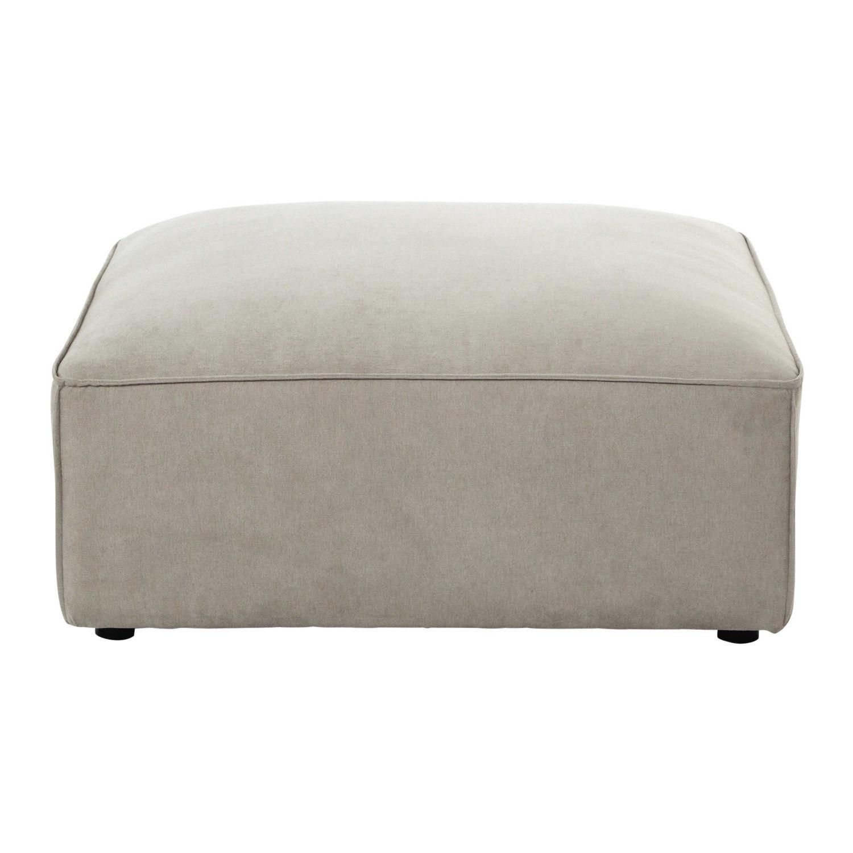 Pouf per divano beige modulabile in tessuto Malo | Maisons du Monde