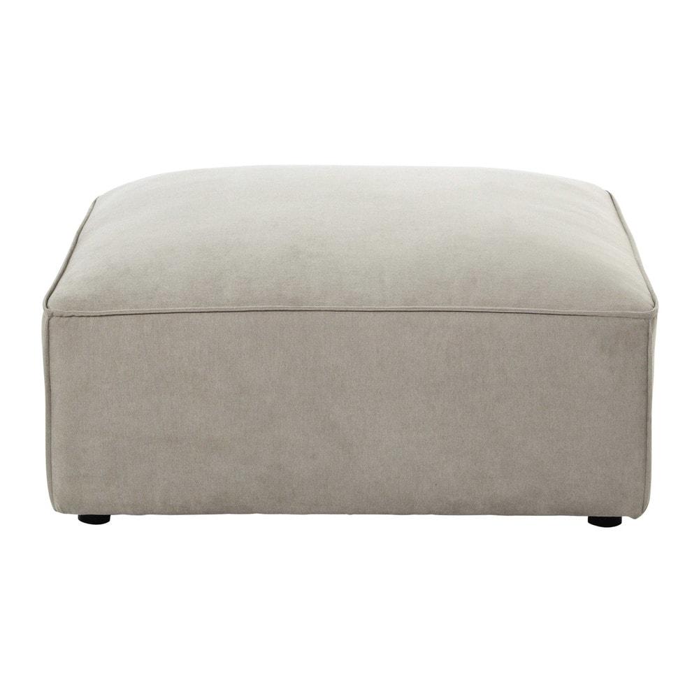 Pouf per divano beige modulabile in tessuto malo maisons - Pouf per divano ...