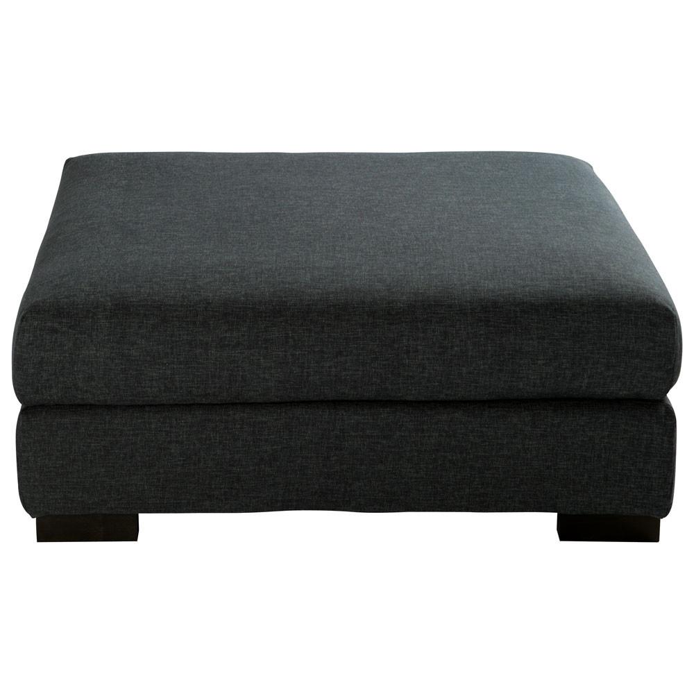 Pouf per divano color antracite modulabile in tessuto - Pouf per divano ...