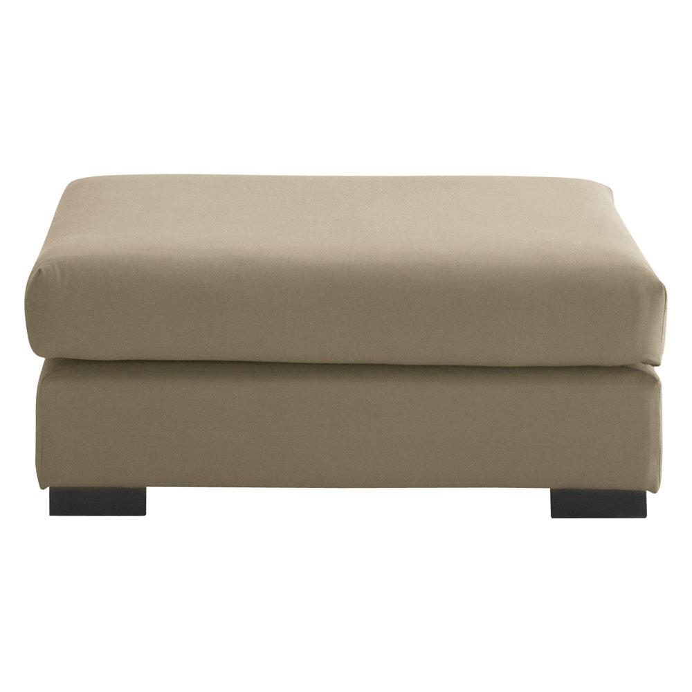 Pouf per divano color talpa modulabile in cotone terence - Pouf per divano ...