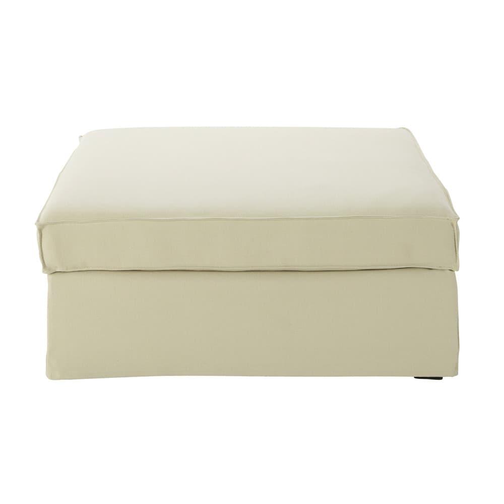Pouf per divano ecru in cotone e lino enzo maisons du monde - Pouf per divano ...