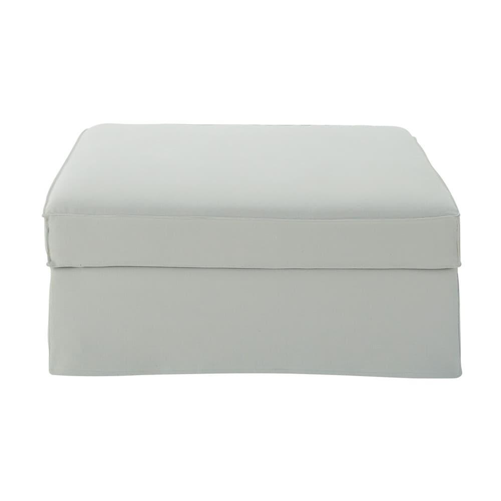 Pouf per divano grigio chiaro in cotone e lino enzo - Pouf per divano ...