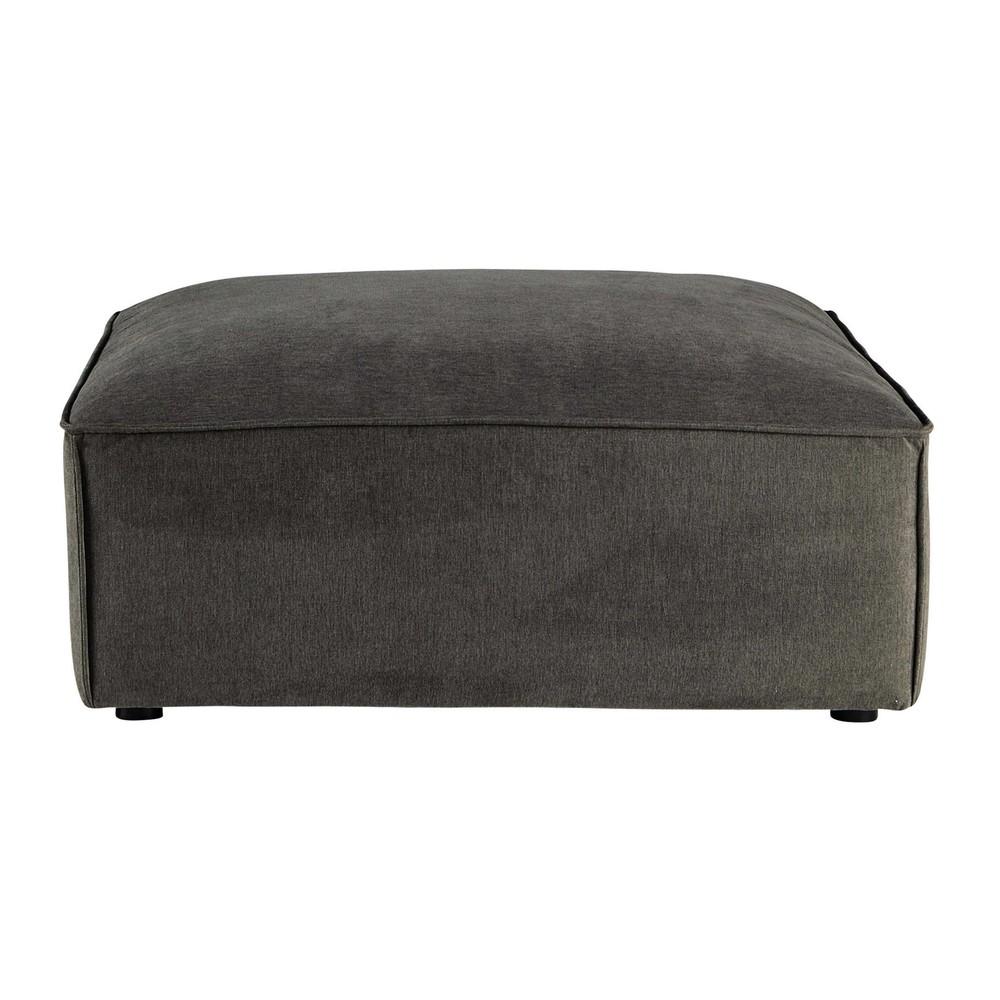 Pouf per divano grigio talpa modulabile in tessuto malo - Pouf per divano ...