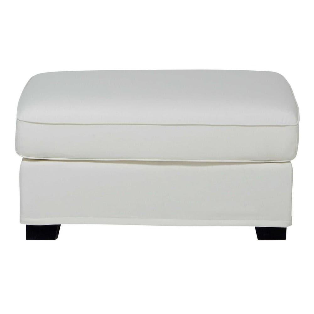 Pouf per il divano modulabile di cotone avorio milano - Pouf per divano ...