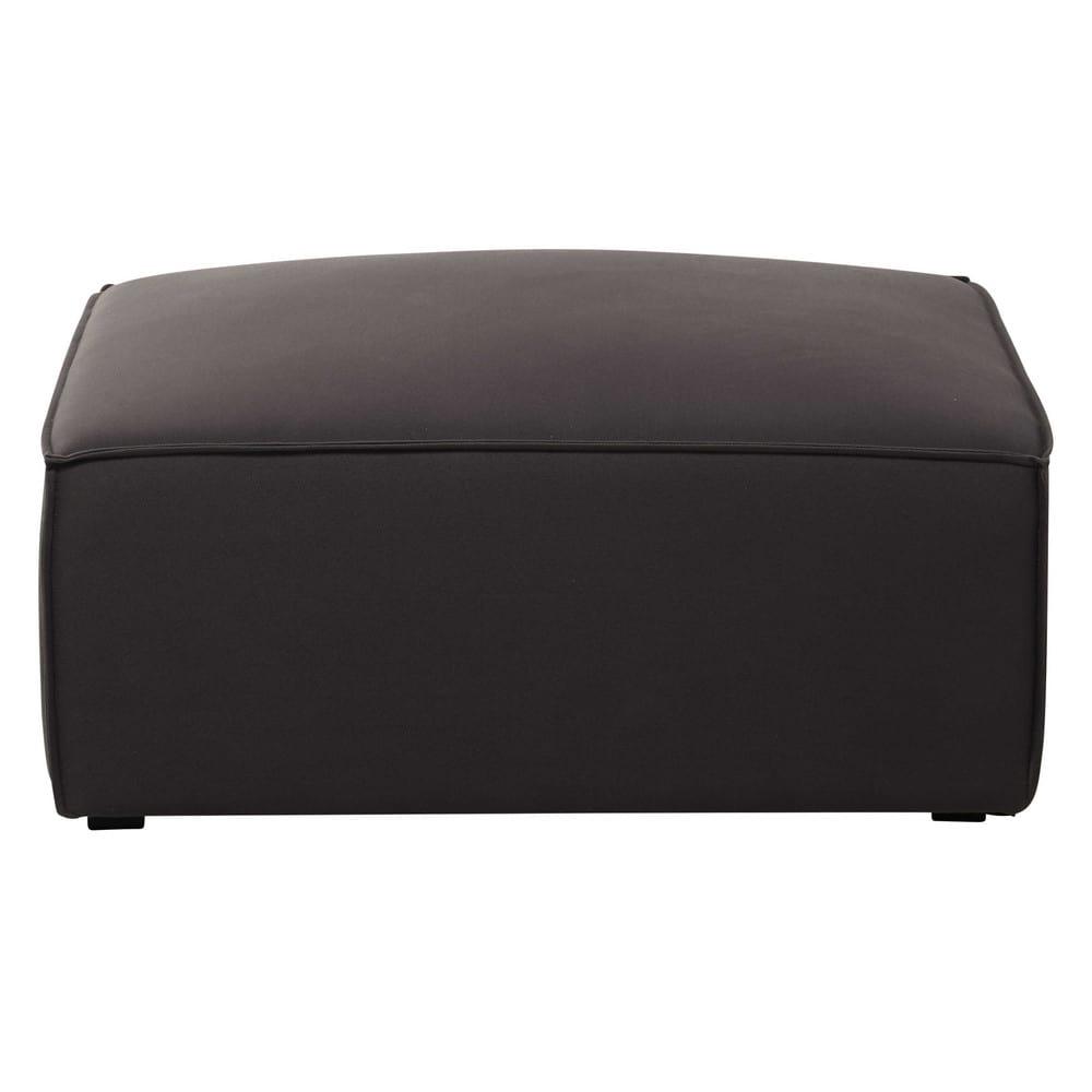 Pouf per il divano modulabile di cotone grigio talpa - Pouf per divano ...