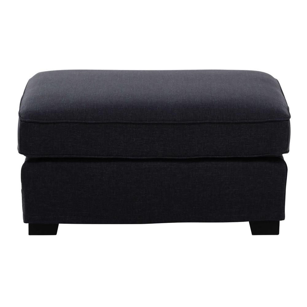 Pouf per il divano modulabile in tessuto monet grigio - Divano grigio antracite ...