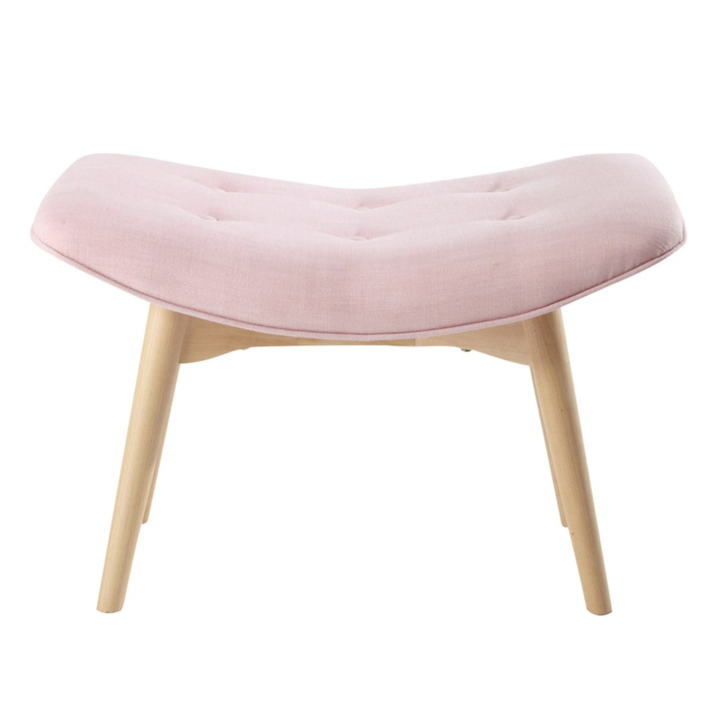 pouf repose pieds scandinave en tissu rose iceberg maisons du monde. Black Bedroom Furniture Sets. Home Design Ideas