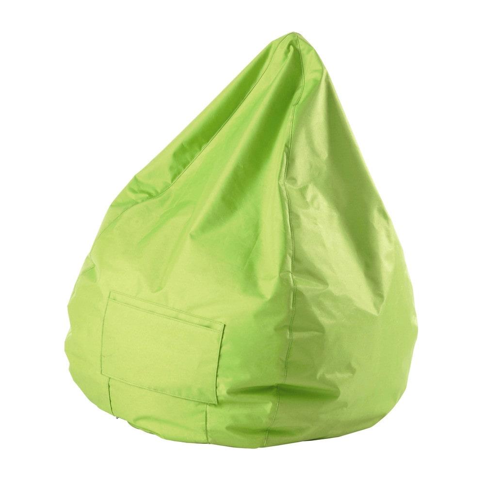 pouf verde a pera da giardino in tessuto multico maisons du monde. Black Bedroom Furniture Sets. Home Design Ideas