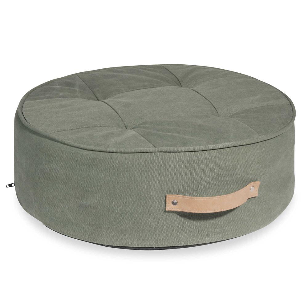pouf verde in tessuto tampico maisons du monde. Black Bedroom Furniture Sets. Home Design Ideas