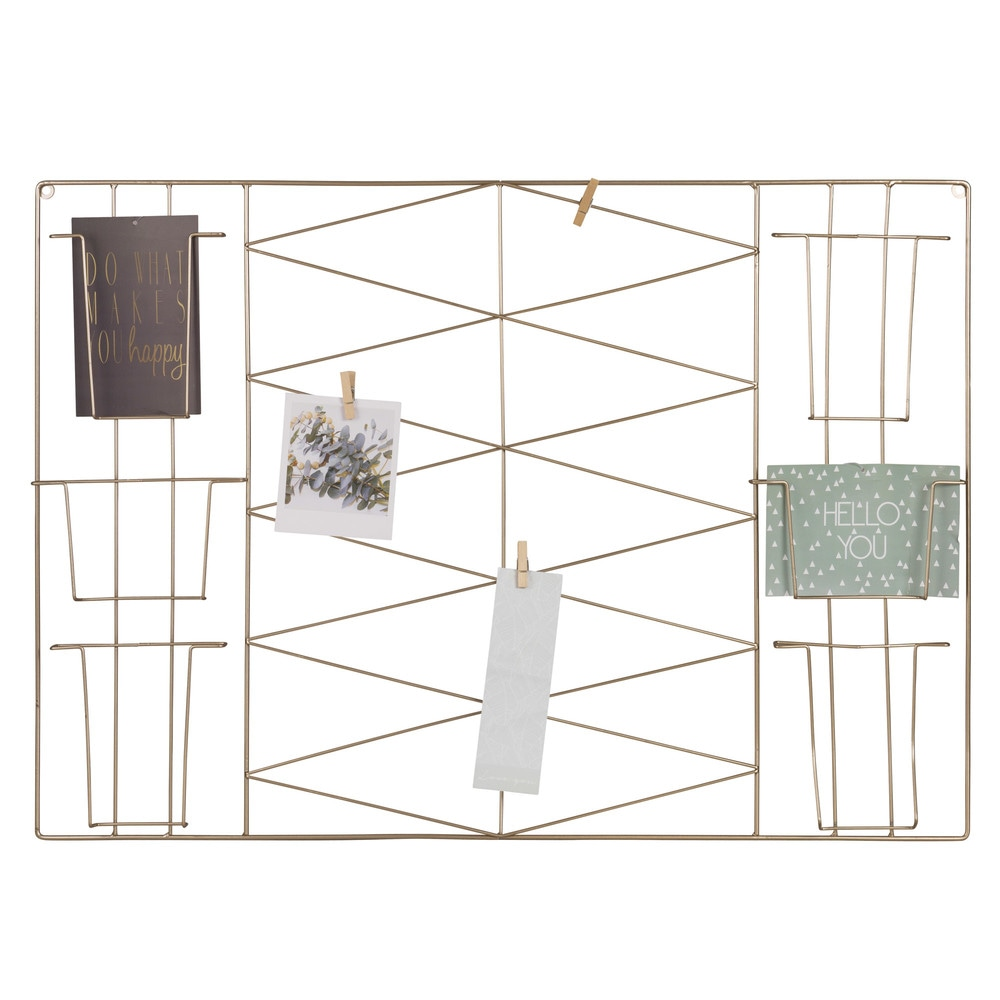 maison du monde pele mele top gypset gold goldtone metal wall shelf h cm with maison du monde. Black Bedroom Furniture Sets. Home Design Ideas