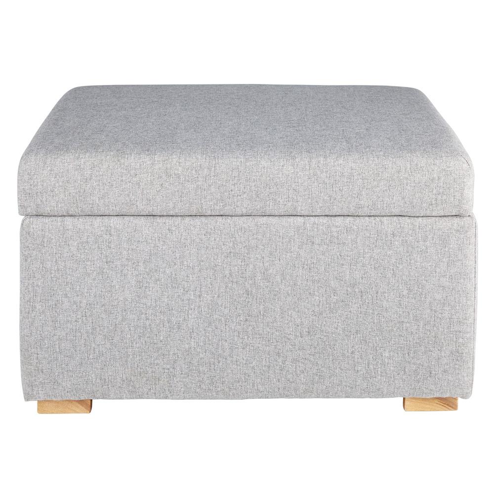 puff mit staufach aus grauer baumwolle lena maisons du monde. Black Bedroom Furniture Sets. Home Design Ideas