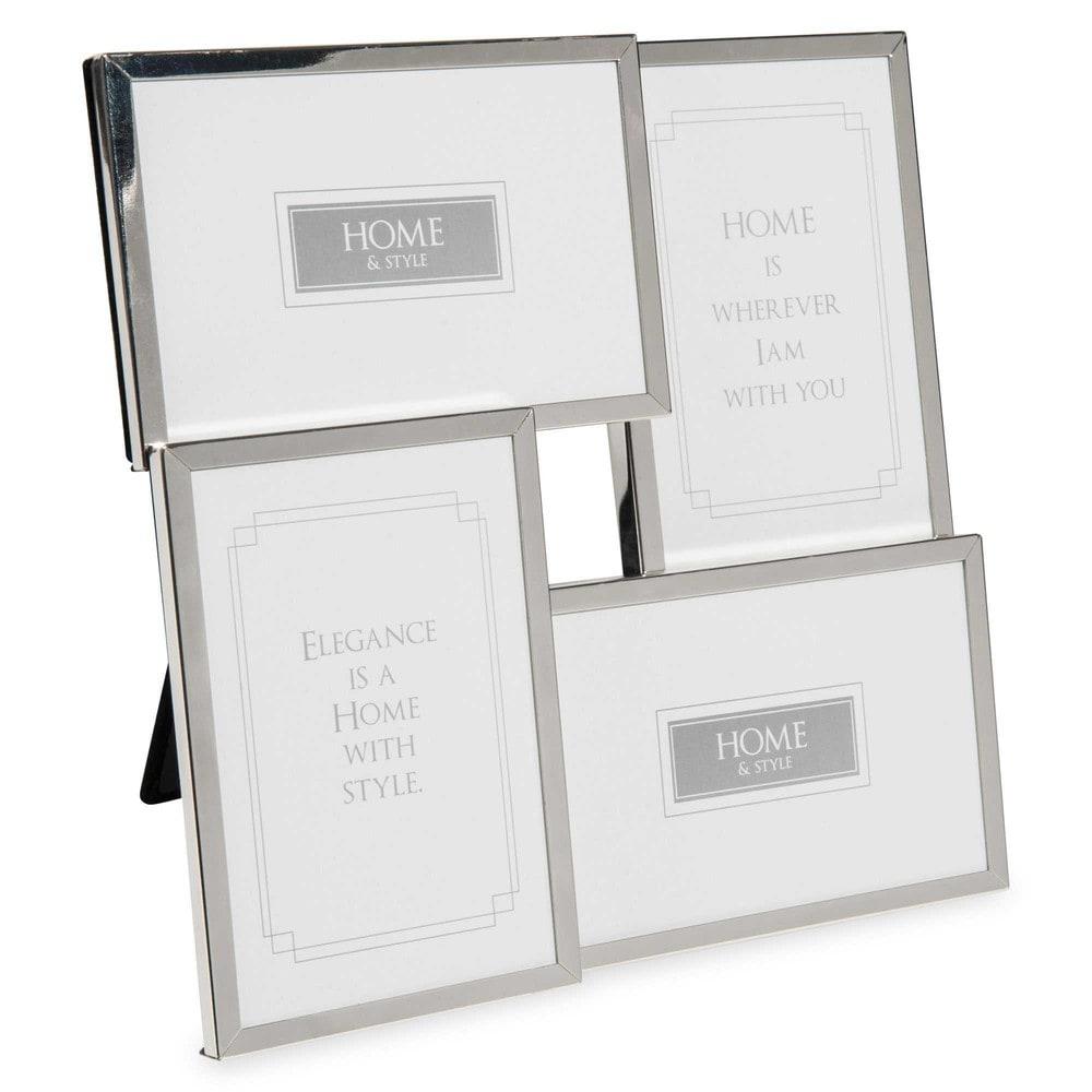 rahmen f r 4 fotos aus metall 26x26cm andrew maisons du. Black Bedroom Furniture Sets. Home Design Ideas
