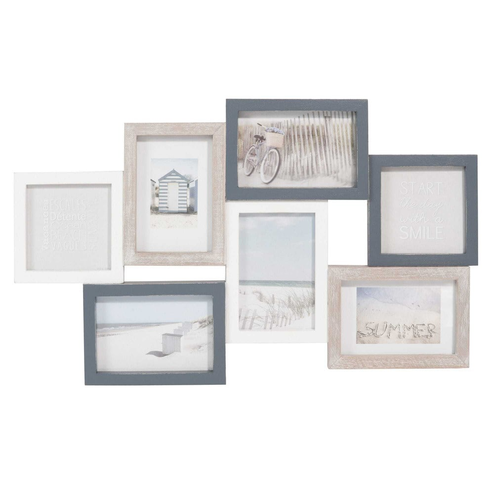 rahmen f r 9 fotos holzimitation dreifarbig carnac. Black Bedroom Furniture Sets. Home Design Ideas