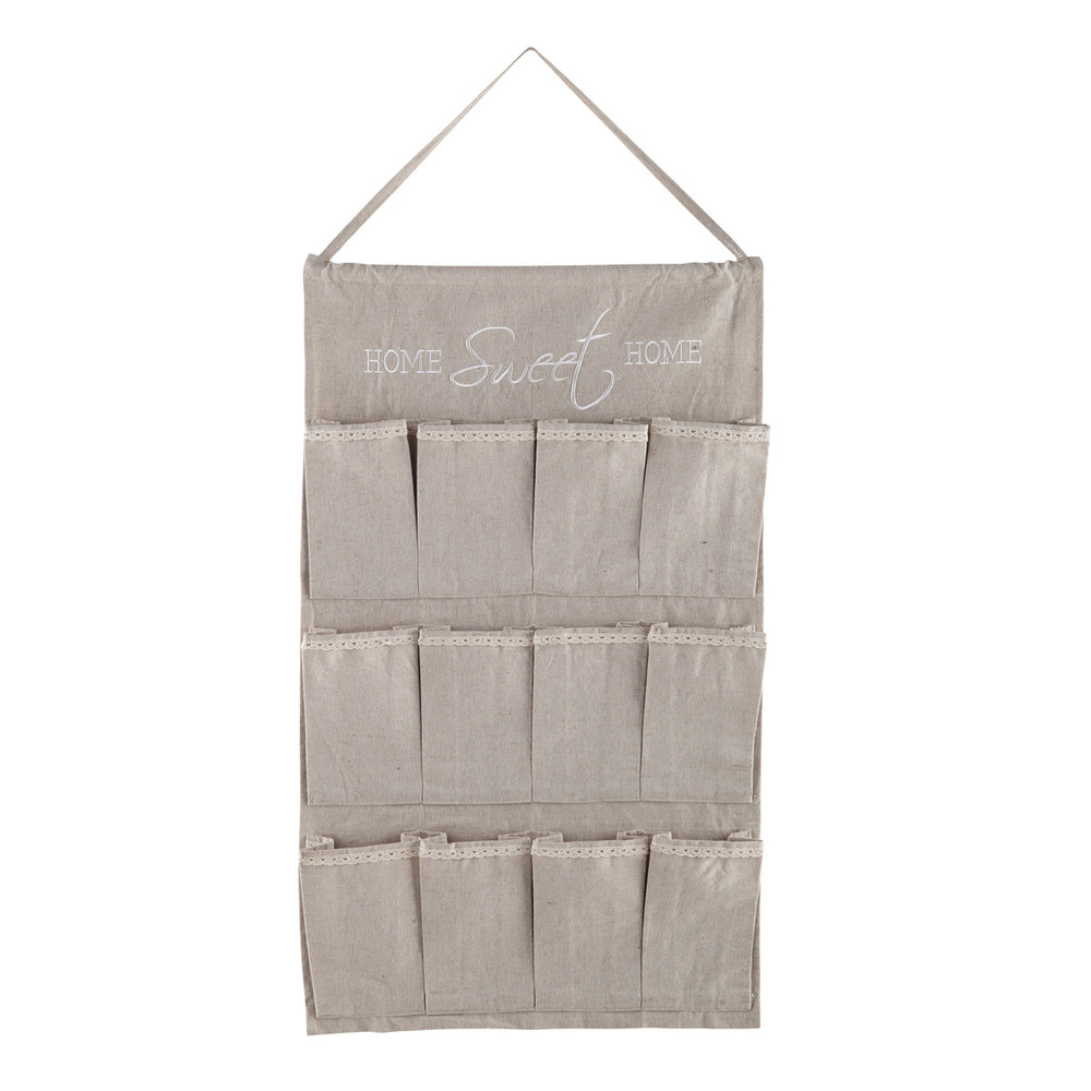rangement mural poches en tissu 48 x 100 cm am lie. Black Bedroom Furniture Sets. Home Design Ideas