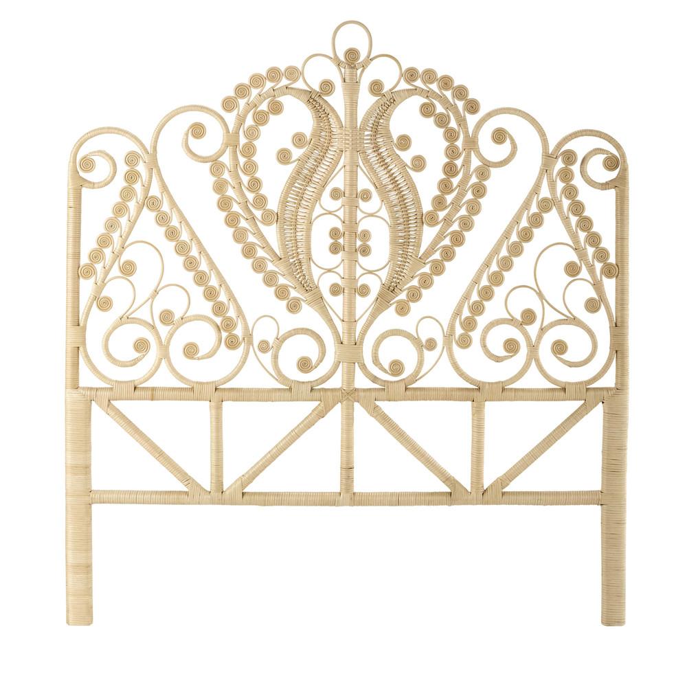 rattan 140cm headboard peacock maisons du monde. Black Bedroom Furniture Sets. Home Design Ideas