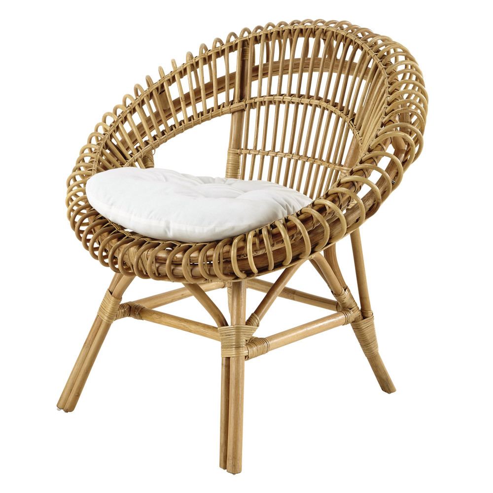 rattan armchair smoothie maisons du monde. Black Bedroom Furniture Sets. Home Design Ideas