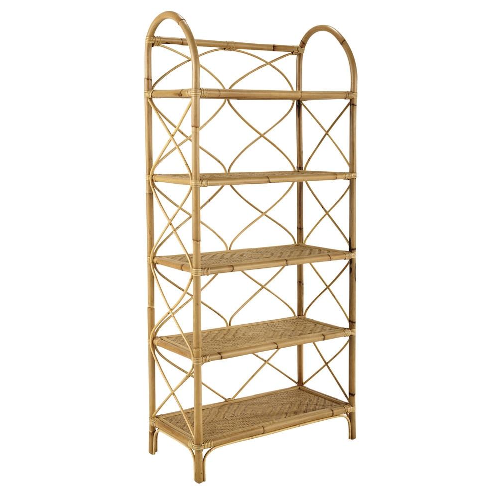 Rattan vintage shelf unit w 66cm suzane maisons du monde for Etagere pour serre de jardin