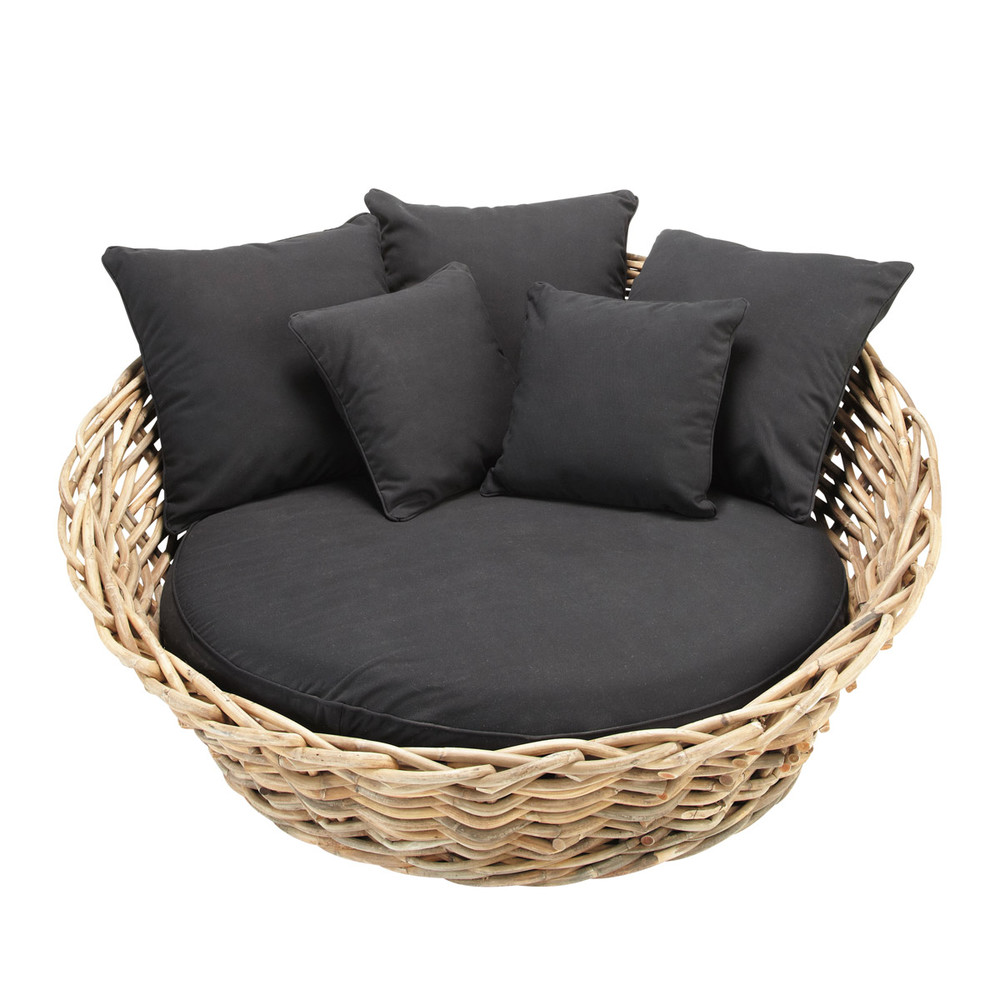 rattansofa 1 2 sitzer saint tropez saint tropez maisons du monde. Black Bedroom Furniture Sets. Home Design Ideas