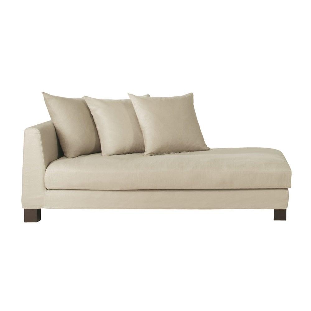 recamiere aus leinen natur turenne maisons du monde. Black Bedroom Furniture Sets. Home Design Ideas