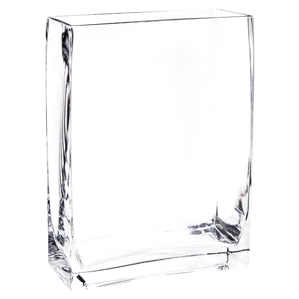 rectangular glass vase h 20 cm maisons du monde. Black Bedroom Furniture Sets. Home Design Ideas