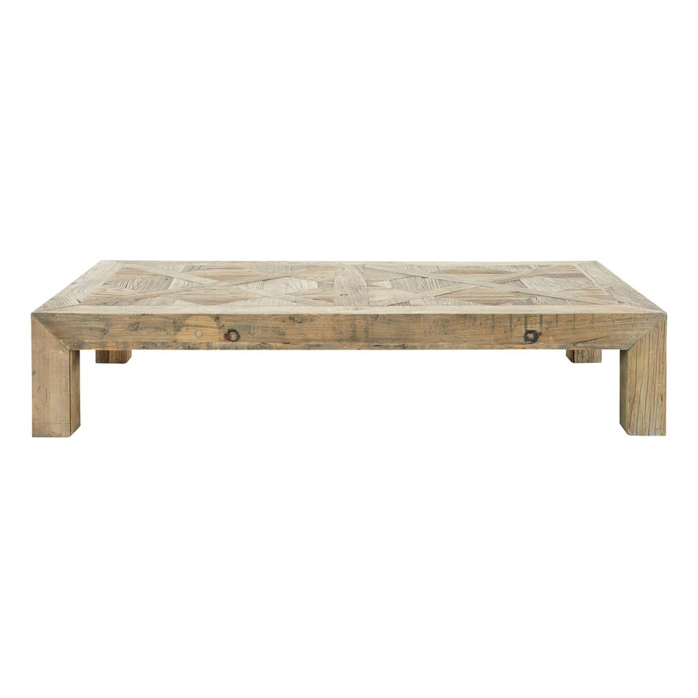 Recycled Solid Elm Coffee Table W 150cm Bruges Maisons Du Monde