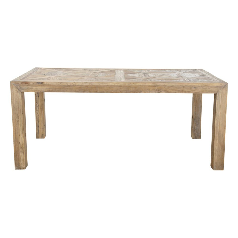 Recycled solid elm dining table w 180cm bruges maisons for Table 180 cm
