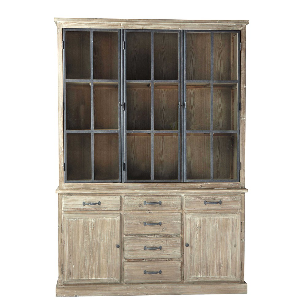 Recycled Wood China Cabinet W 152cm Copenhague Maisons