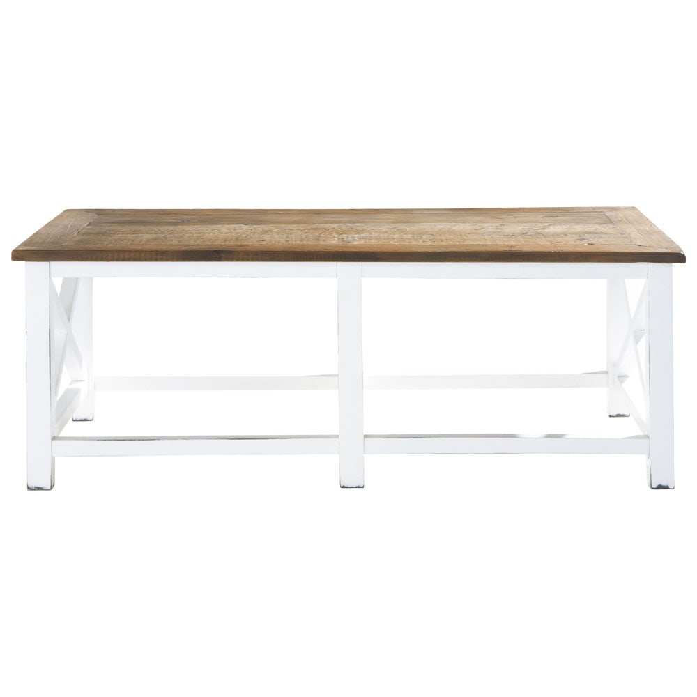 Recycled Wood Coffee Table W 120cm Sologne Maisons Du Monde