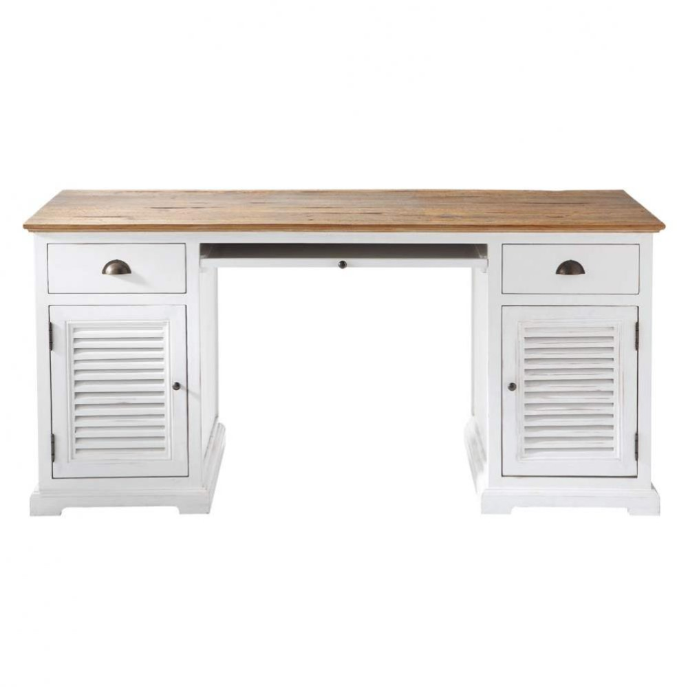 Recycled wood desk W 165cm Sologne