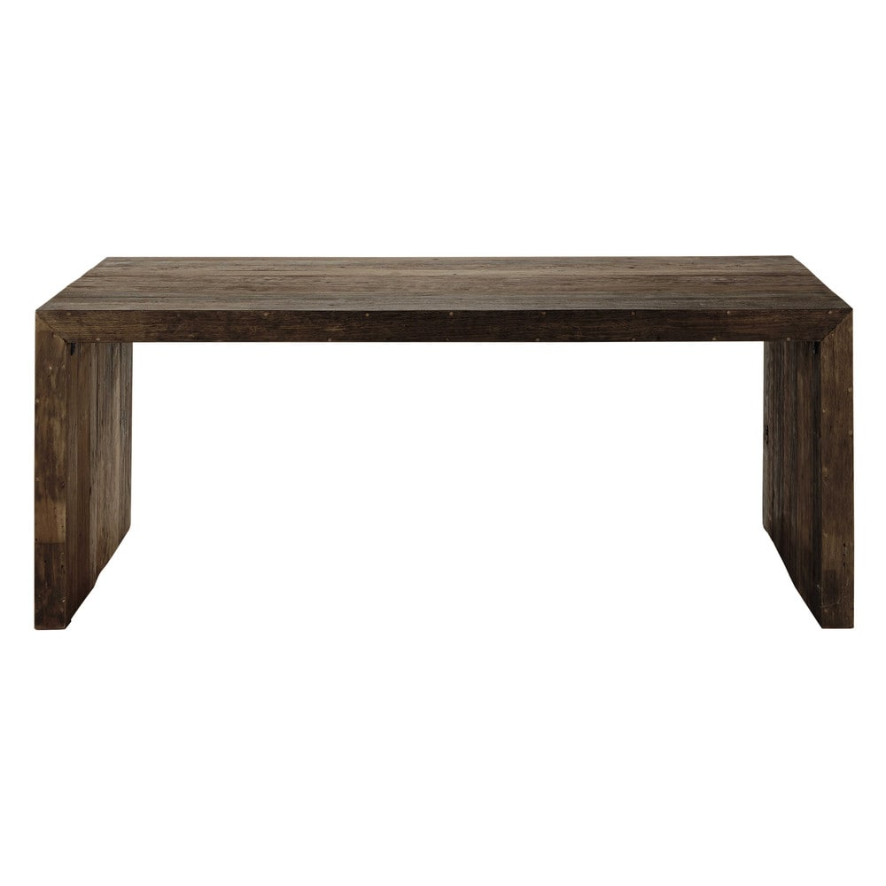 Recycled Wood Dining Table W 200 Cm Wooden Maisons Du Monde