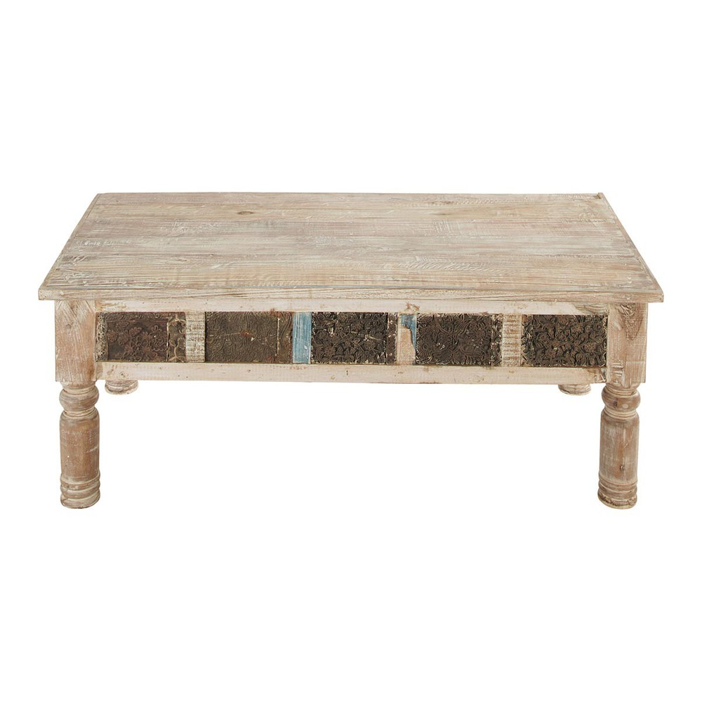 Recycled wood indiancoffee table karma karma maisons - Table maison du monde ...