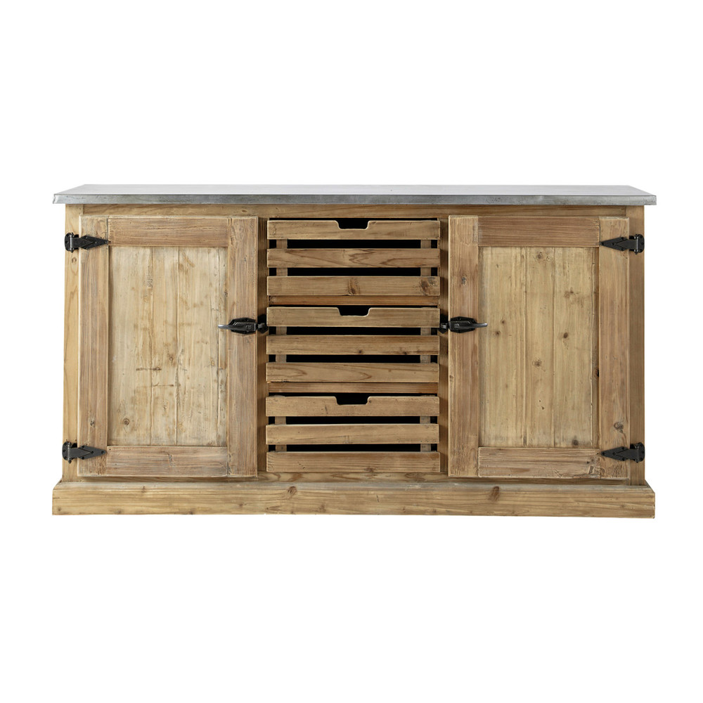 Recycled Wood Sideboard W 160cm Pagnol Maisons Du Monde
