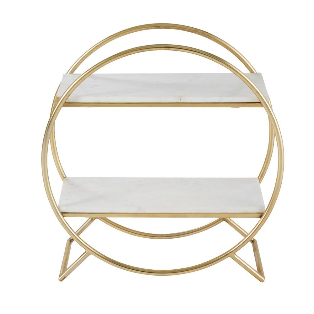 regal aus marmor und goldfarbenem metall wendy maisons. Black Bedroom Furniture Sets. Home Design Ideas