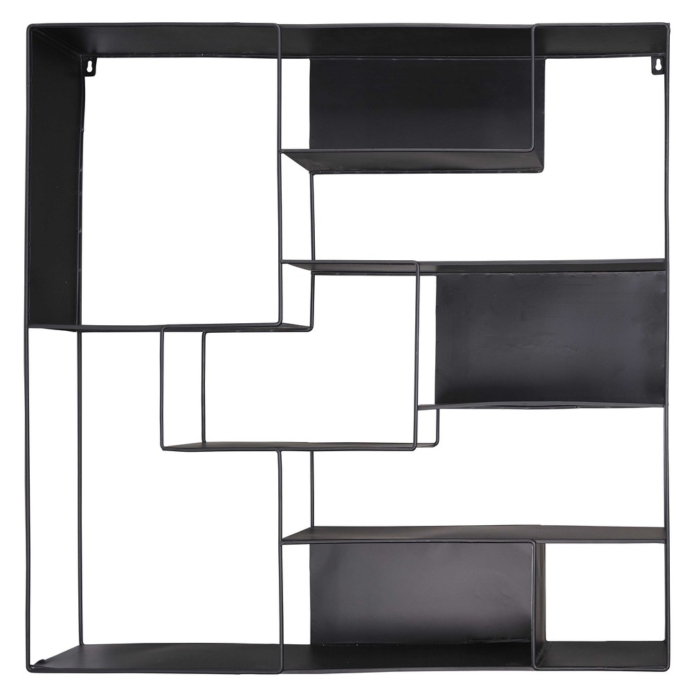 regal aus schwarzem metall loudmi maisons du monde. Black Bedroom Furniture Sets. Home Design Ideas
