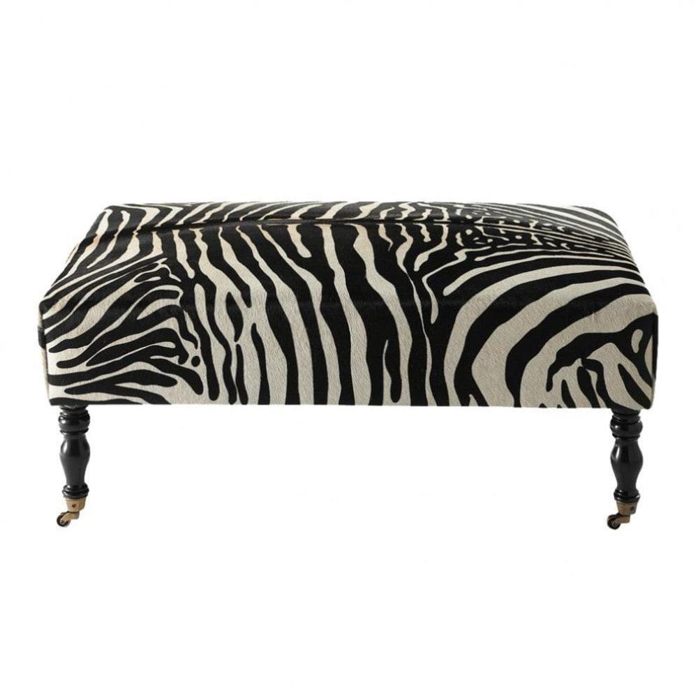 repose pieds zebre maisons du monde. Black Bedroom Furniture Sets. Home Design Ideas