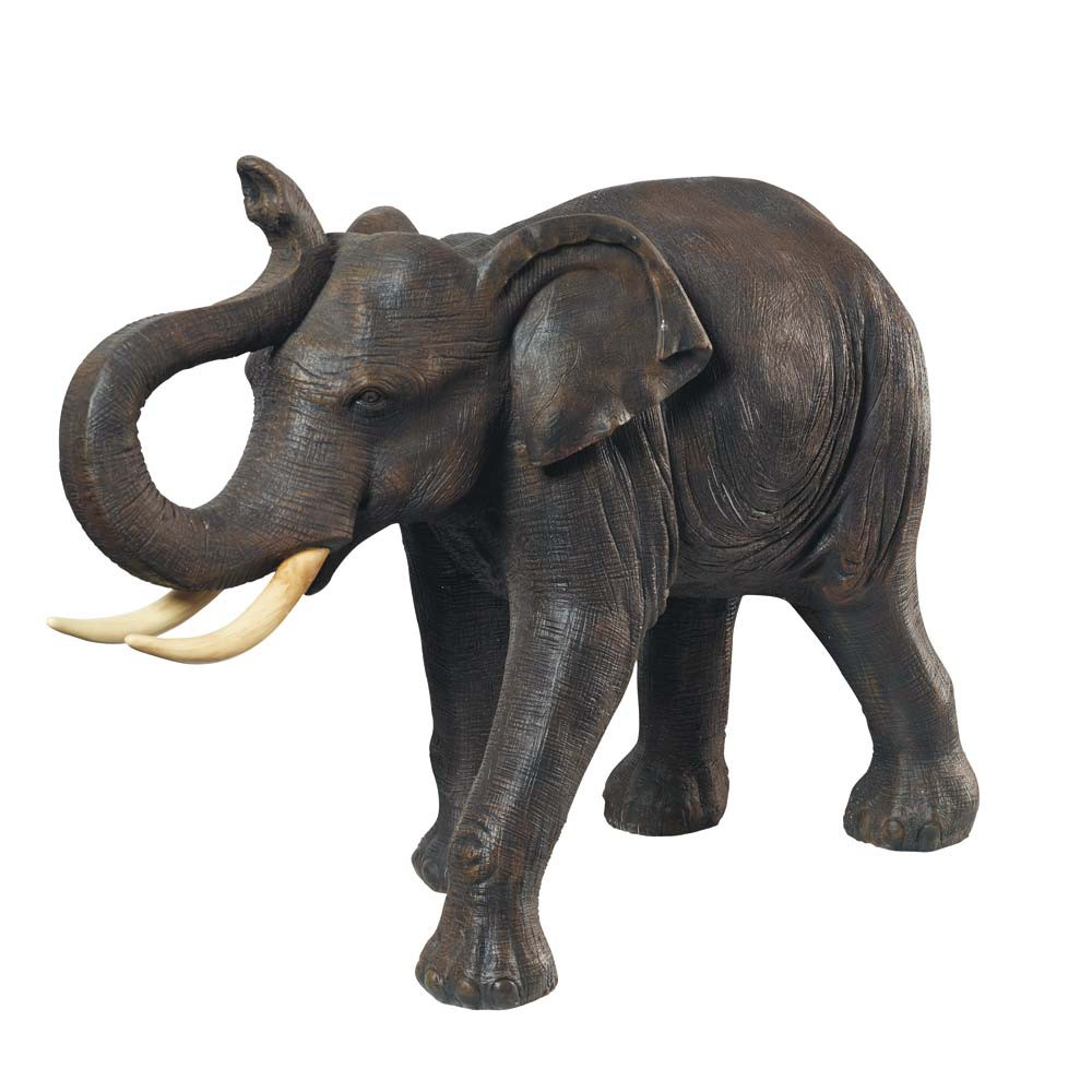 Resin elephant statue in grey h 82cm maisons du monde for Decoration elephant