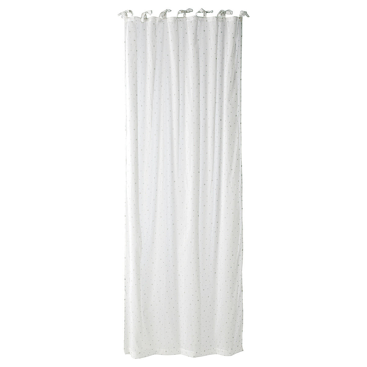 Rideau A Nouettes En Coton Blanc 102x250 Etoile Maisons Du Monde