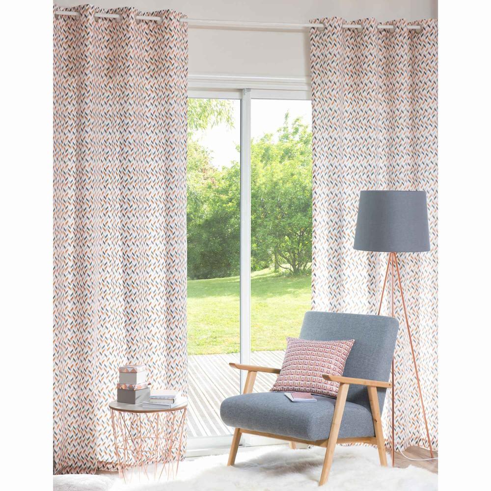 rideau illets en coton 140 x 250 cm dana maisons du monde. Black Bedroom Furniture Sets. Home Design Ideas
