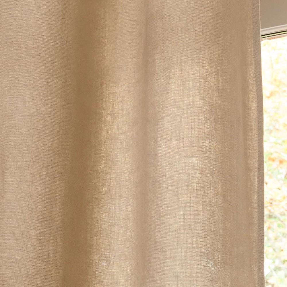 rideau illets en lin lav beige 130 x 300 cm maisons du monde. Black Bedroom Furniture Sets. Home Design Ideas