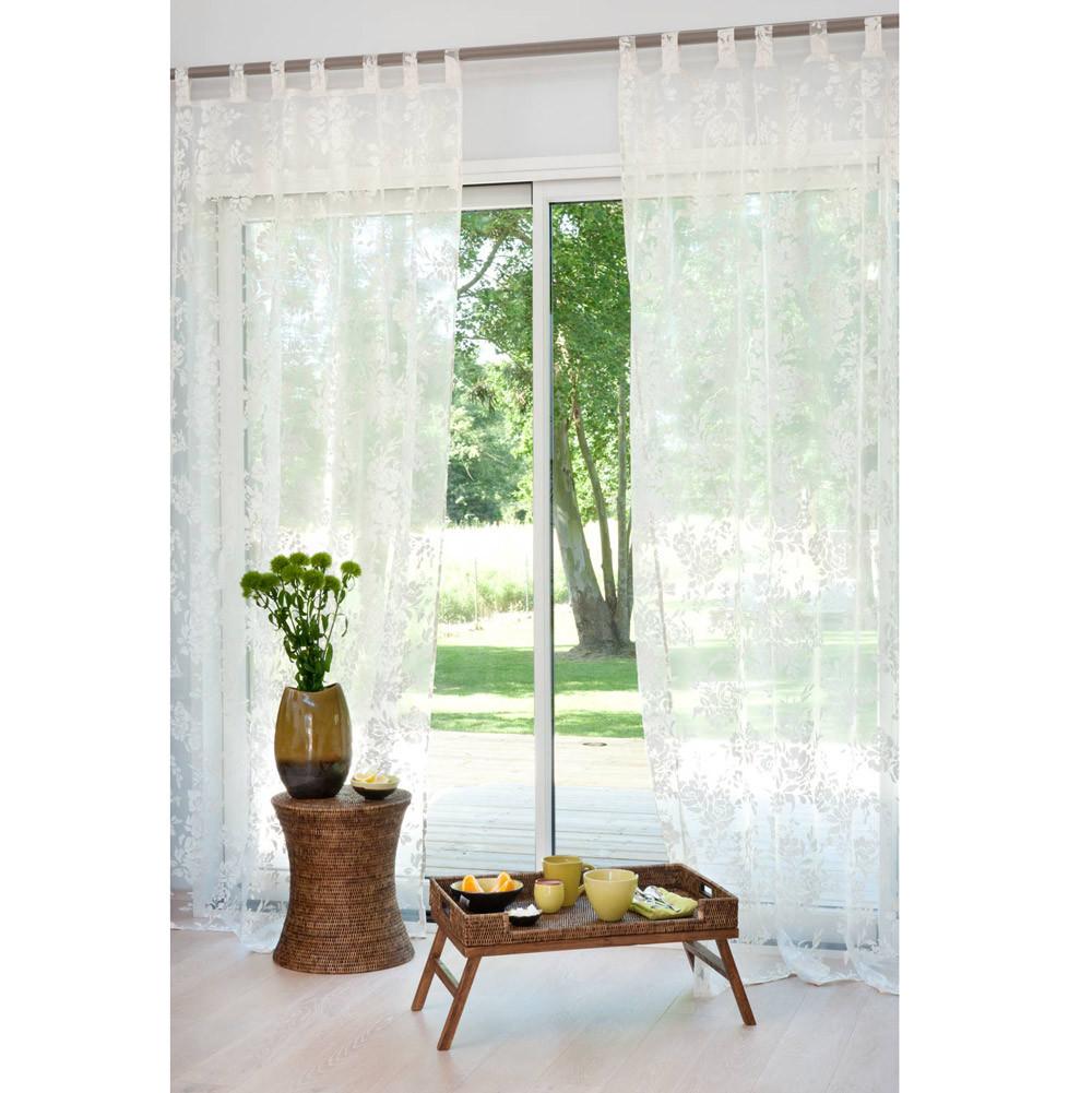 rideau passants en coton 140 x 250 cm fiora maisons du monde. Black Bedroom Furniture Sets. Home Design Ideas