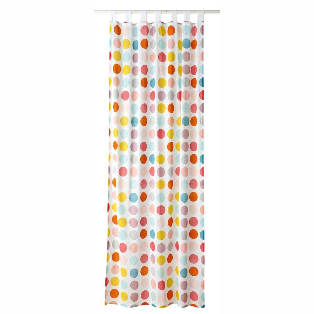 Rideau passants motif pois en coton 110 x 250 cm alix - Embrasse rideau maison du monde ...