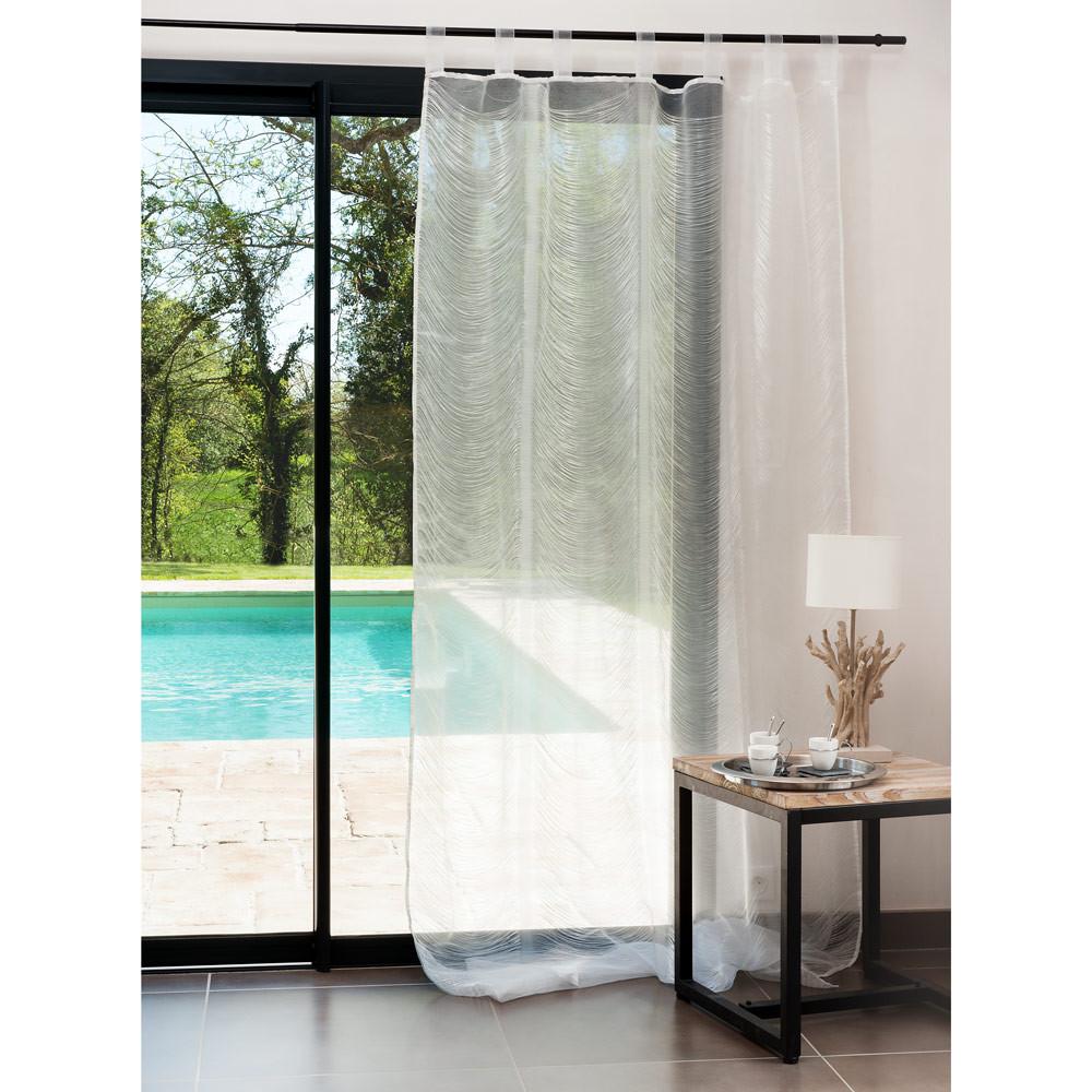 rideau filea fil blanc maisons du monde. Black Bedroom Furniture Sets. Home Design Ideas
