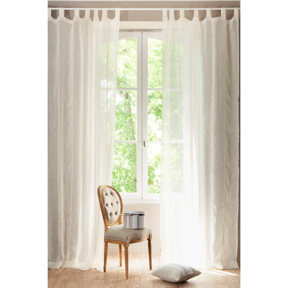 rideau lin fanny maisons du monde. Black Bedroom Furniture Sets. Home Design Ideas
