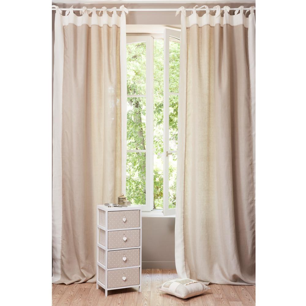 rideau lin madeleine maisons du monde. Black Bedroom Furniture Sets. Home Design Ideas