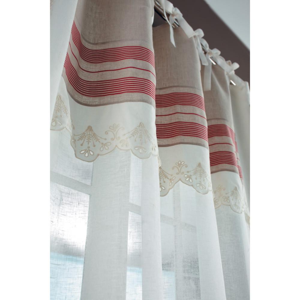 rideau lin mariette vendu l 39 unit maisons du monde. Black Bedroom Furniture Sets. Home Design Ideas