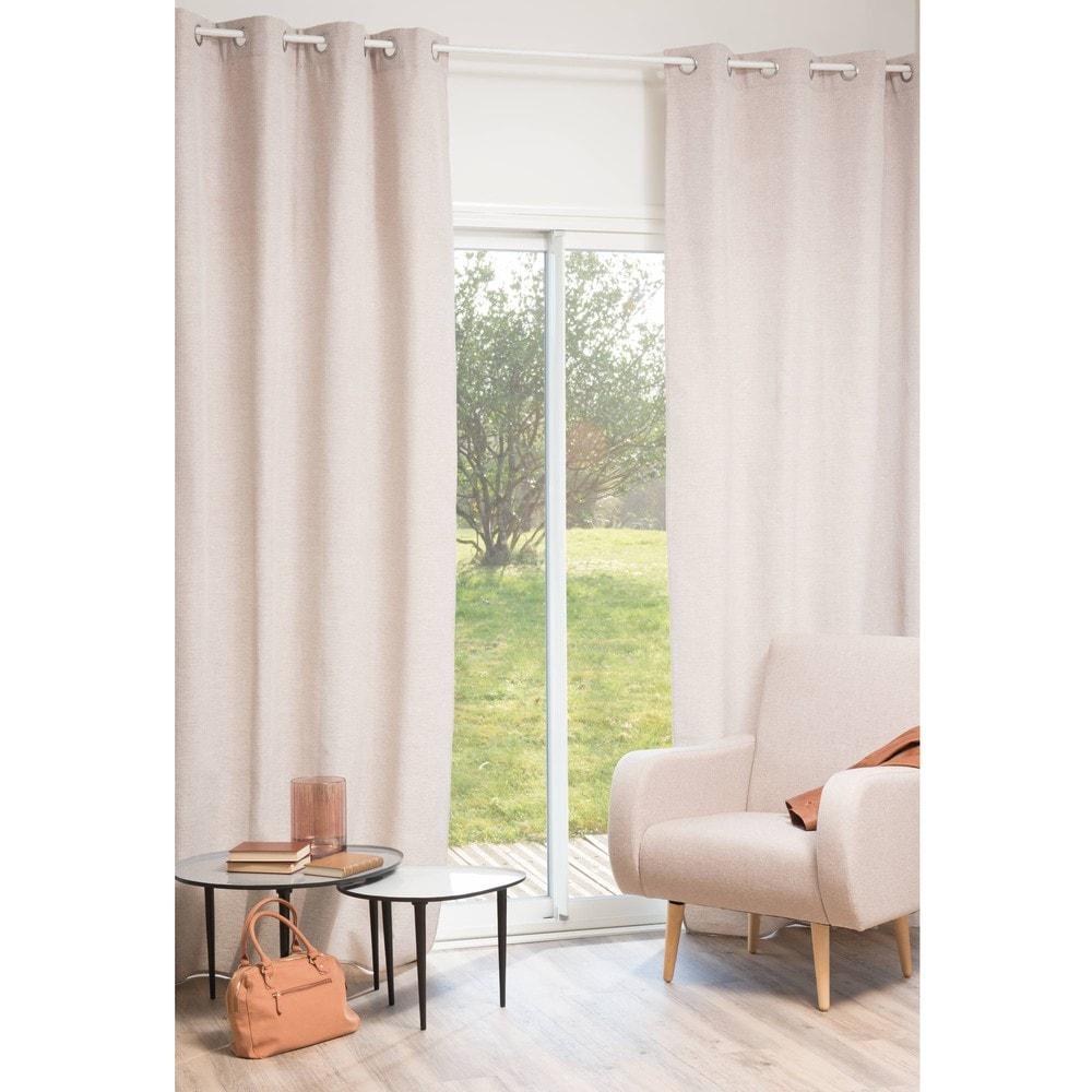 rideau motif chevron beige 140 x 270 cm james maisons du monde. Black Bedroom Furniture Sets. Home Design Ideas